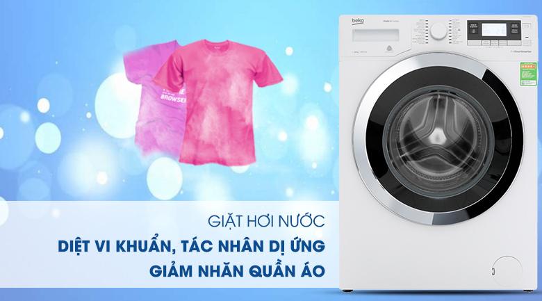 Máy giặt Beko Inverter 10 kg WY104764MW - Giặt nước nóng