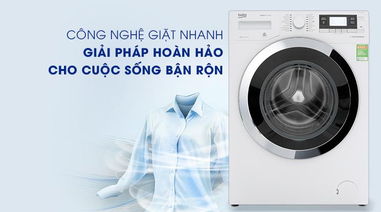 Máy giặt Beko Inverter 10 kg WY104764MW - Giặt nhanh