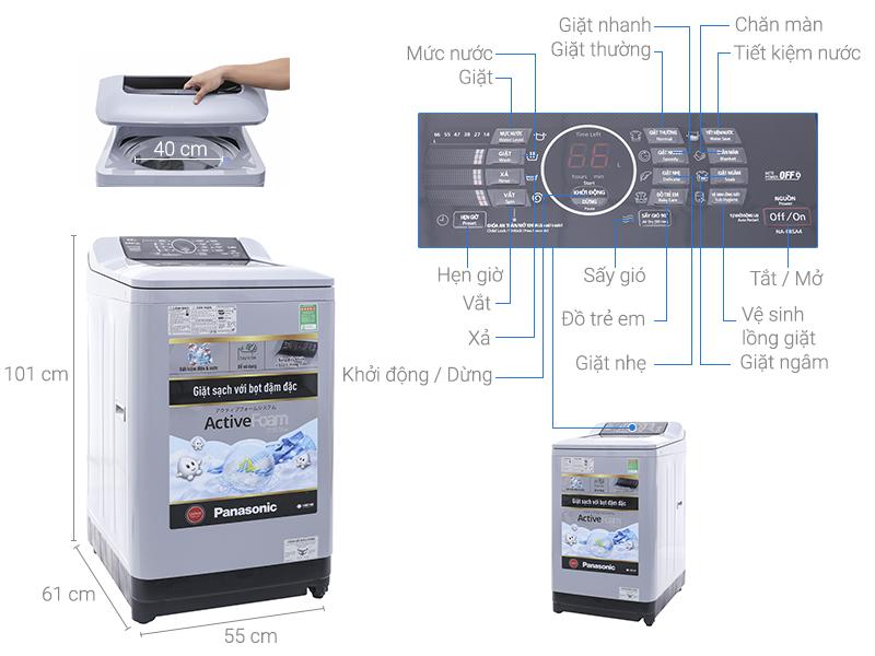 Thông số kỹ thuật Máy giặt Panasonic NA-F85A4HRV