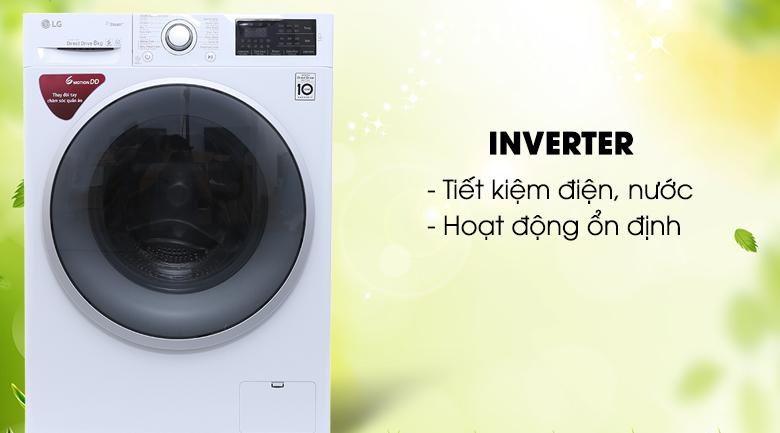 Công nghệ Inverter - Máy giặt LG Inverter 8 kg FC1408S4W1