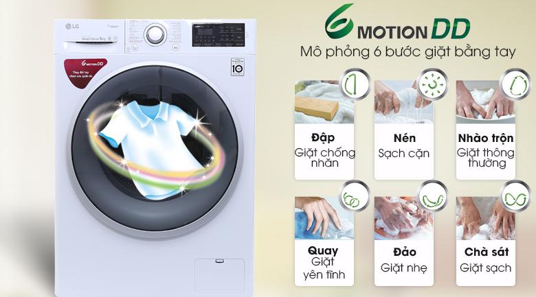 6 Motion DD - Máy giặt LG Inverter 8 kg FC1408S4W1