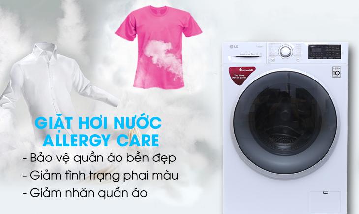 Công nghệ giặt hơi nước - Máy giặt LG Inverter 8 kg FC1408S4W1