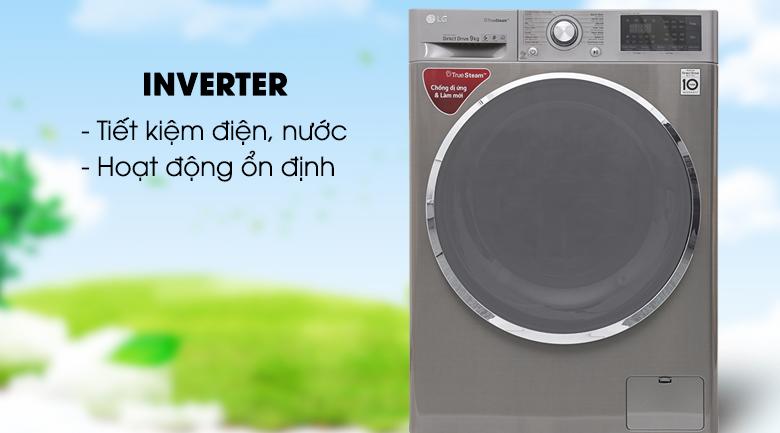 Inverter - Máy giặt LG inverter 9 kg FC1409S2E
