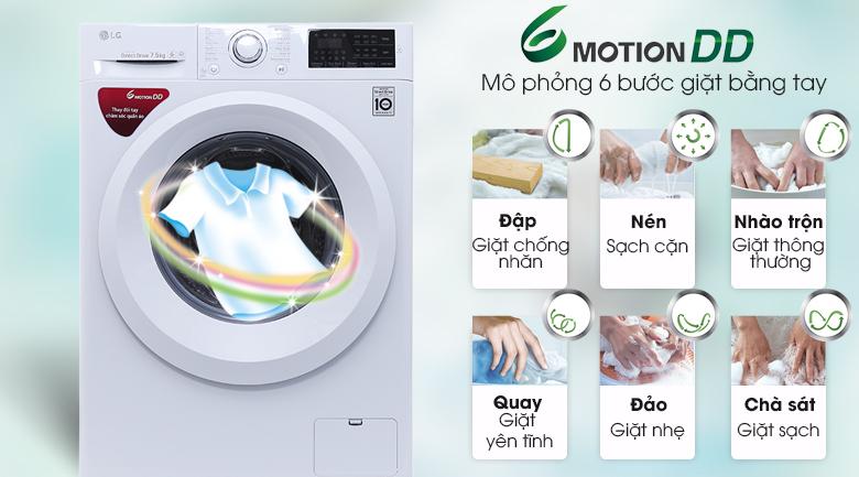 Giặt 6 chuyển động - Máy giặt LG FC1475N5W2