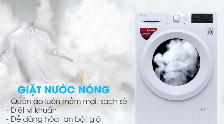 Giặt nước nóng - Máy giặt LG FC1475N5W2