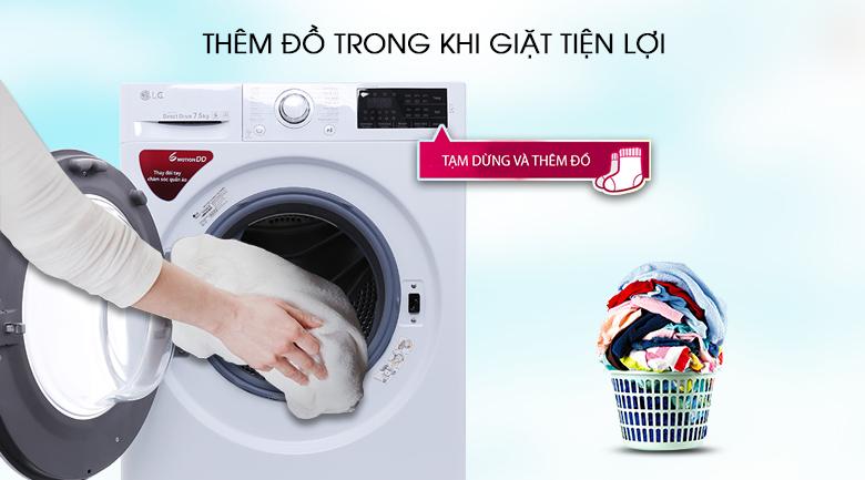 Thêm đồ giặt tiện lợi - Máy giặt LG FC1475N5W2
