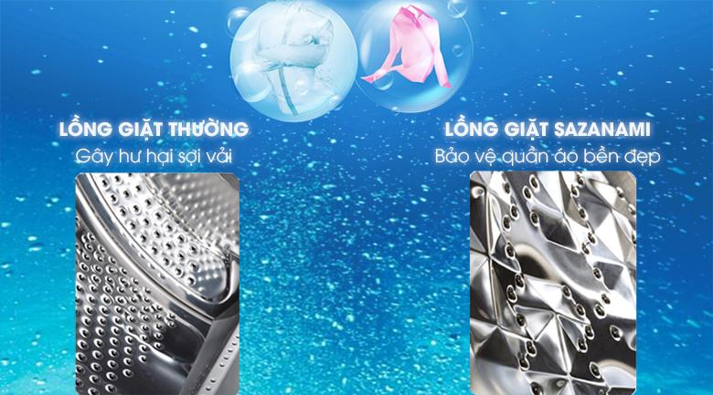 Lồng giặt SAZANAMI - Máy giặt Panasonic 9 kg NA-F90A4GRV