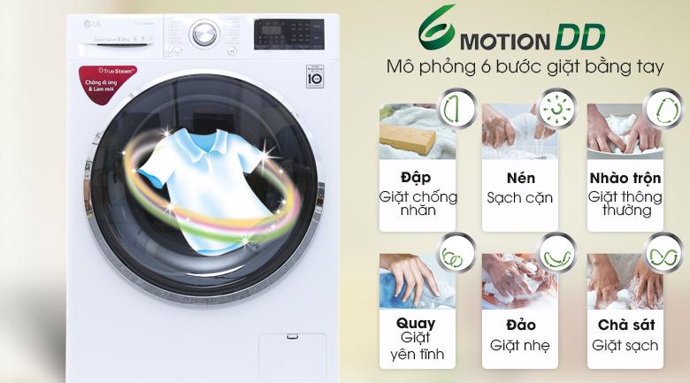 6 motion DD - Máy giặt LG inverter 8.5 kg FC1485S2W
