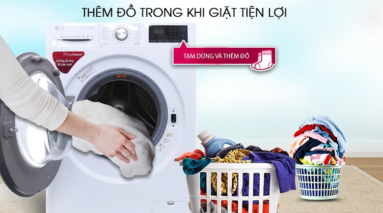 Thêm đồ trong khi giặt - Máy giặt LG Inverter 8.5 kg FC1485S2W