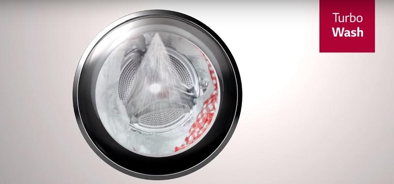 Công nghệ TurboWash giặt sanh nhanh chóng, tiết kiệm thời gian
