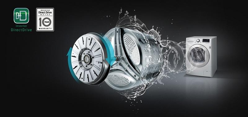 Máy giặt Inverter truyền động trực tiếp êm ái, tiết kiệm điện năng