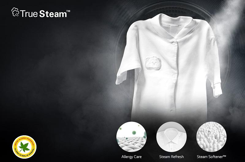 Kháng khuẩn tối ưu với công nghệ giặt hơi nước Truesteam