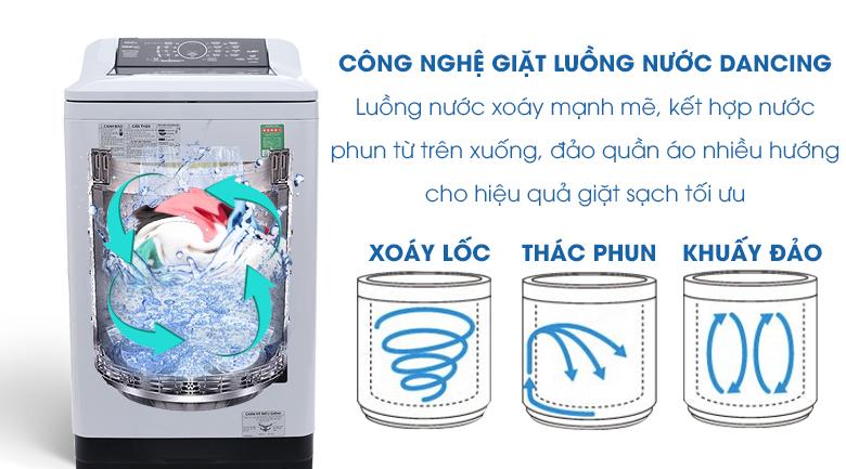 Luồng nước Dancing - Máy giặt Panasonic 9 kg NA-F90A4HRV
