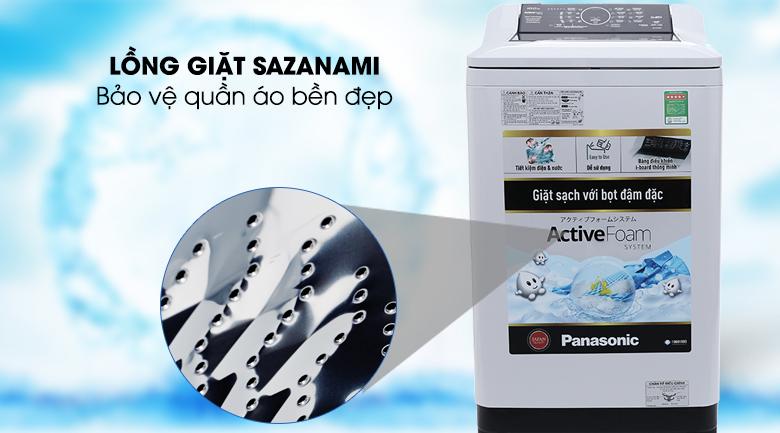 Lồng giặt Sazanami - Máy giặt Panasonic 9 kg NA-F90A4HRV