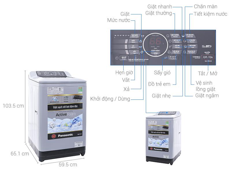 Thông số kỹ thuật Máy giặt Panasonic 10 kg NA-F100A4HRV