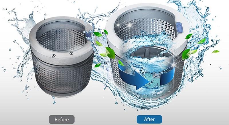 Tiện lợi với tính năng tự động vệ sinh lồng giặt