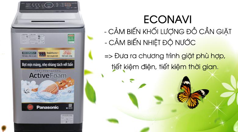 Cảm biến Econavi - Máy giặt Panasonic 10 kg NA-F100V5LRV