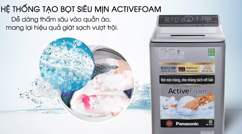 Hệ thống ActiveFoam - Máy giặt Panasonic 10 kg NA-F100V5LRV
