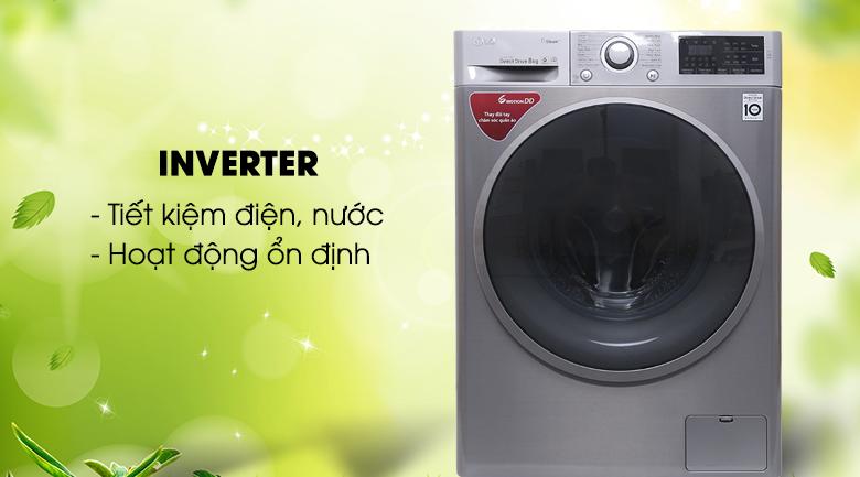 Công nghệ biến tần Inverter - Máy giặt LG Inverter 8 kg FC1408S3E