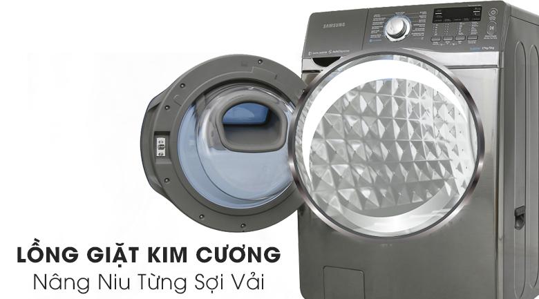 Lồng giặt kim cương - Máy giặt Samsung Add Wash Inverter 17 kg WD17J7825KP/SV