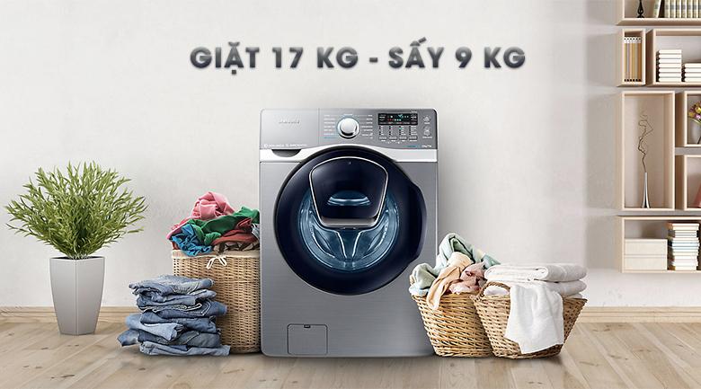 Máy giặt sấy khối lượng lớn - Máy giặt Samsung Add Wash Inverter 17 kg WD17J7825KP/SV