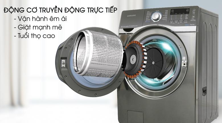 Động cơ truyền động trực tiếp - Máy giặt Samsung Add Wash Inverter 17 kg WD17J7825KP/SV
