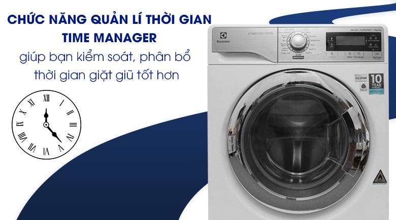Chức năng quản lí thời gian Time Manager - Máy giặt sấy Electrolux inverter 10 kg EWW14023