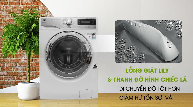 Lồng giặt Lily - Máy giặt sấy Electrolux inverter 10 kg EWW14023