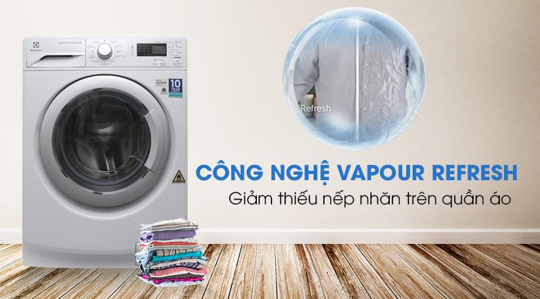 Công nghệ Vapour Refresh - Máy giặt sấy Electrolux Inverter 8 kg EWW12853
