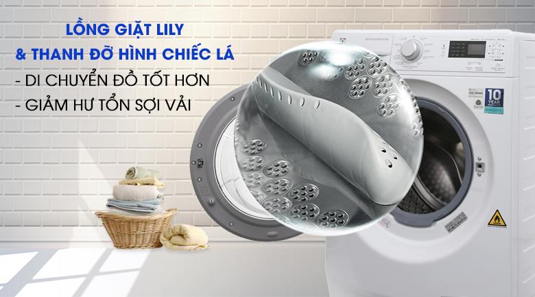 Lồng giặt Lily & thanh đỡ hình chiếc lá - Máy giặt sấy Electrolux Inverter 8 kg EWW12853