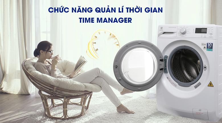 Time Manager - Máy giặt sấy Electrolux Inverter 8 kg EWW12853