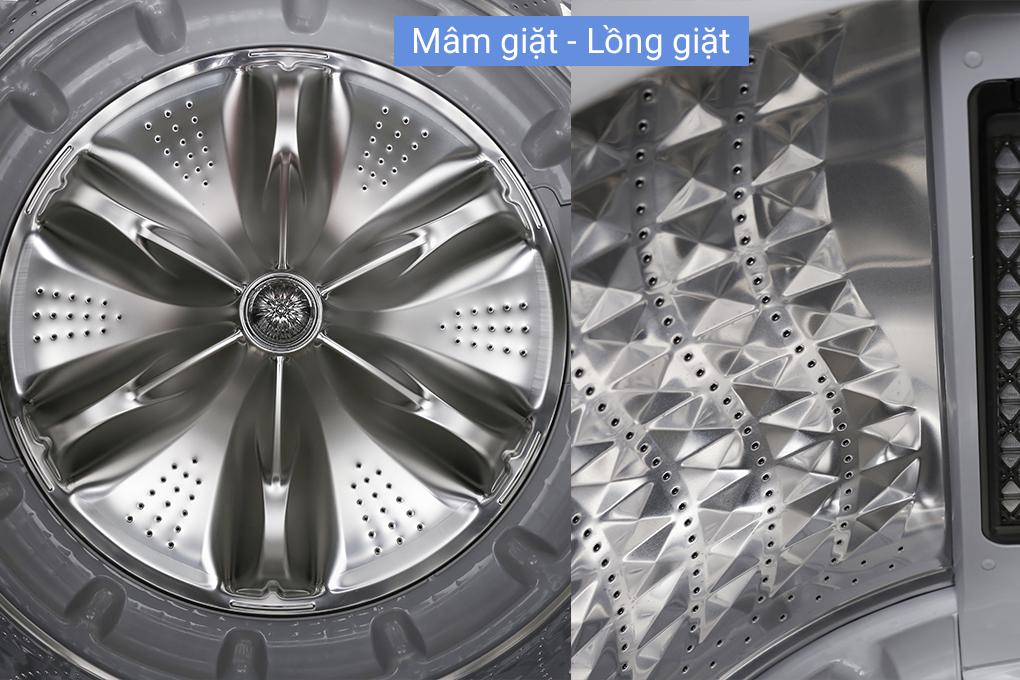 Lồng giặt kim cương - Máy giặt Samsung Inverter 18 kg WA18M8700GV/SV