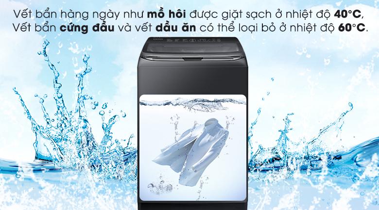 Công nghệ giặt nước nóng - Máy giặt Samsung Inverter 21 kg WA21M8700GV/SV