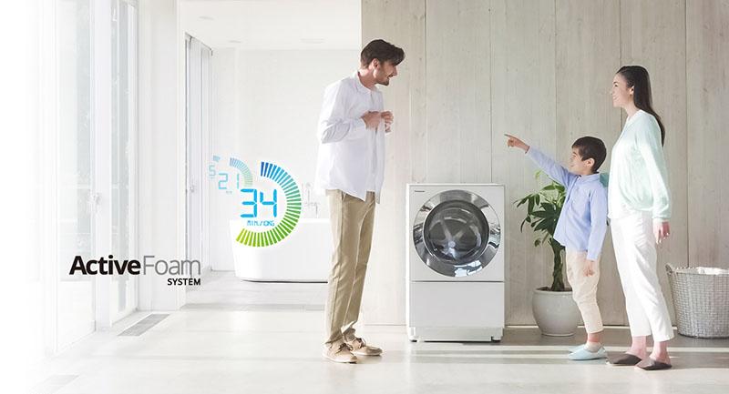 ActiveFoam - Máy giặt Panasonic NA-D106X1WVT
