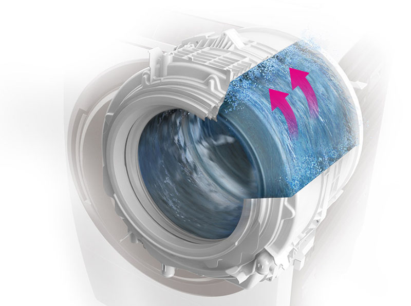Lồng giặt Sazanami - Máy giặt Panasonic NA-D106X1WVT