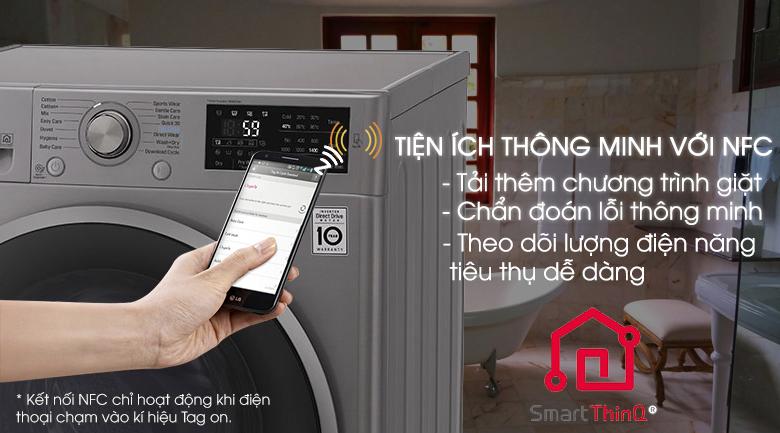 Chẩn đoán thông minh - Máy giặt sấy LG Inverter 9kg FC1409D4E