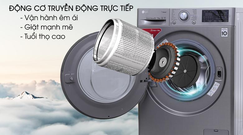 Công nghệ inverter - Máy giặt sấy LG Inverter 9kg FC1409D4E