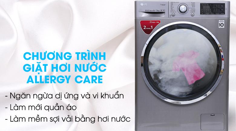 Công nghệ hơi nước Spa steam - Máy giặt sấy LG Inverter 9kg FC1409D4E