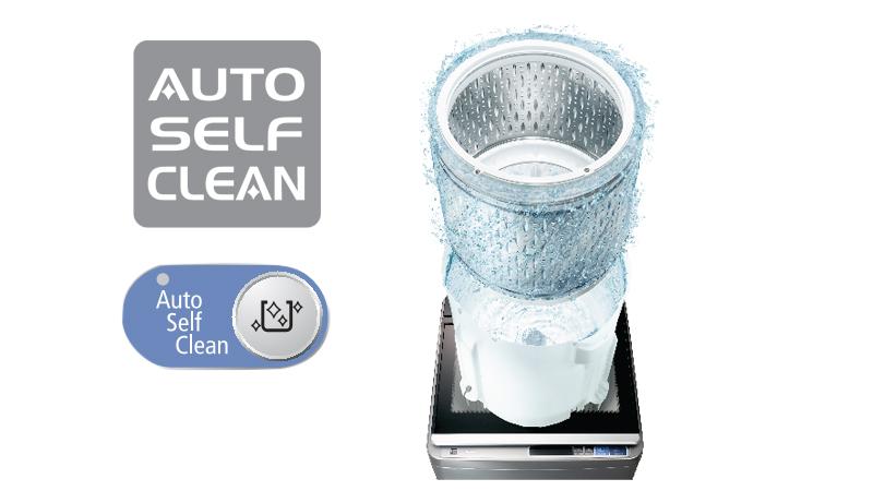 Chức năng tự động vệ sinh lồng giặt