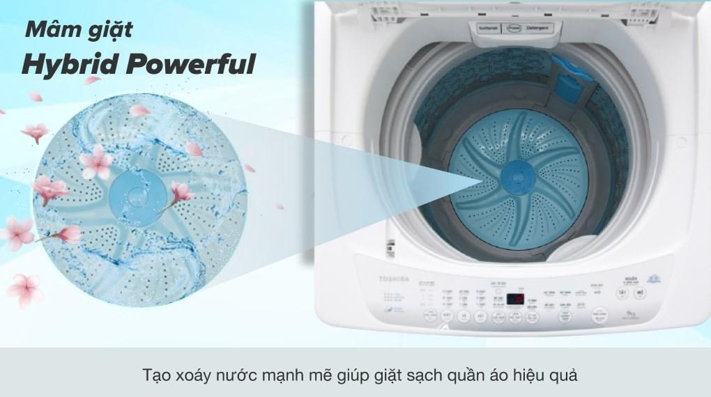 Lồng giặt ngôi sao pha lê - Máy giặt Toshiba 9kg AW-G1000GV WG