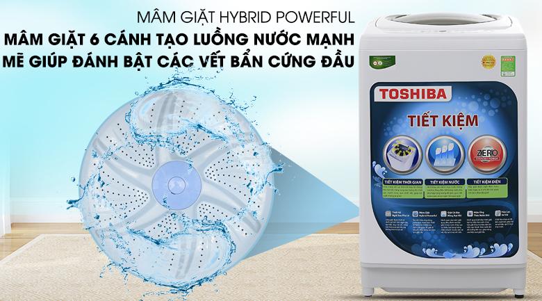 Mâm giặt Hybrid Powerful - Máy giặt Toshiba 9kg AW-G1000GV WG