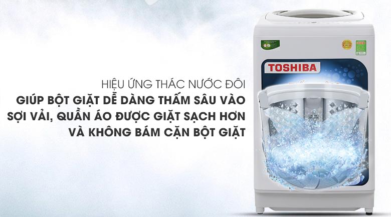 Hiệu ứng thác nước đôi - Máy giặt Toshiba 9kg AW-G1000GV WG