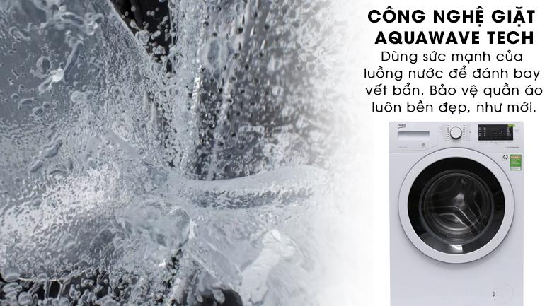 Công nghệ giặt Aquawave Tech - Máy giặt Beko Inverter 7 kg WMY 71083 LB3