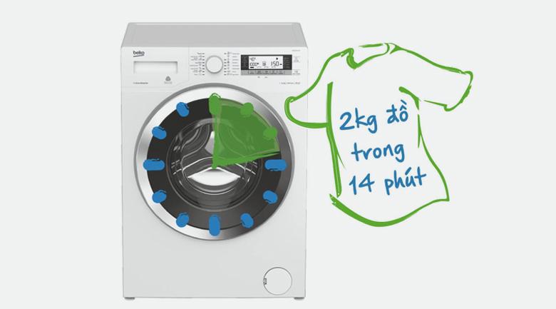Giặt siêu nhanh 14 phút - Máy giặt Beko Inverter 7 kg WMY 71083 LB3