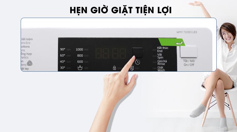 Hẹn giờ giặt tiện lợi - Máy giặt Beko Inverter 7 kg WMY 71083 LB3