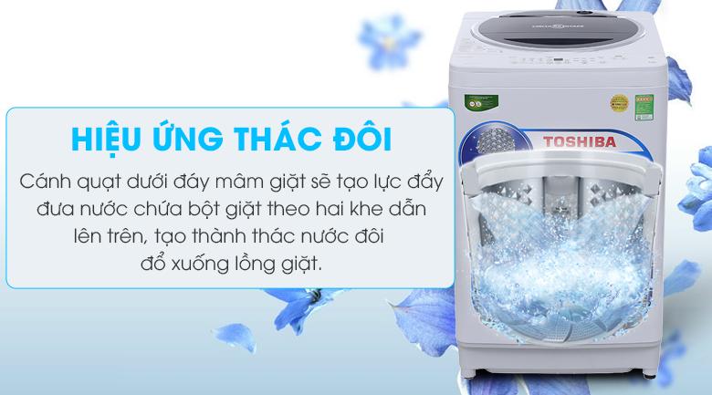 Hiệu ứng thác nước đôi - Máy giặt Toshiba 9.5 kg G1050GV (WB)