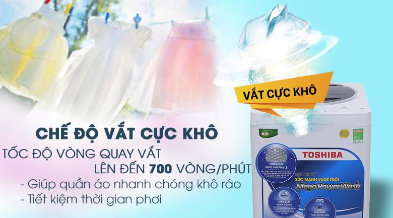 Chế độ vắt cực khô - Máy giặt Toshiba 9.5 kg G1050GV (WB)