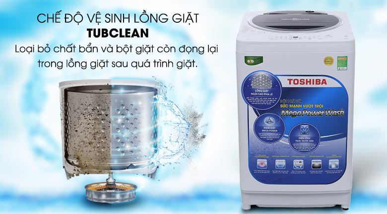 Chế độ làm sạch lồng giặt Tubclean - Máy giặt Toshiba 9.5 kg G1050GV (WB)