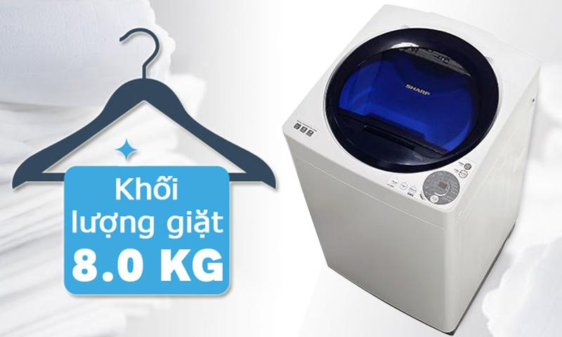 Máy giặt Sharp ES-U80GV-G 8 kg tiện dụng