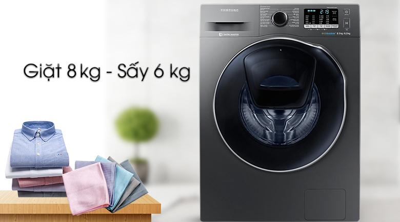 Khối lượng giặt - Máy giặt sấy Samsung AddWash Inverter 8 kg WD85K5410OX/SV